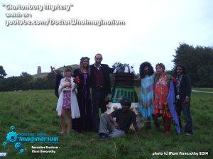 Glastonbury Mystery - cast & crew at Tor (c)Mani Navasothy2014