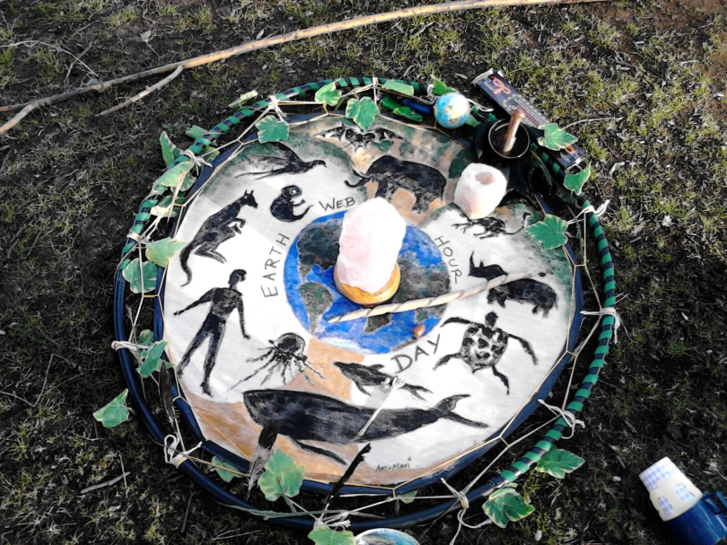 Earth Day altar at Richmond Park, London 22April'15